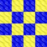 Gelb und Blau geblockt Stockbilder
