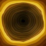 Gelb und Brown-Loch im mehrschichtigen Hintergrund vektor abbildung