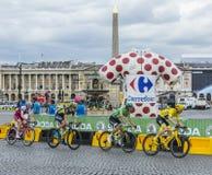 Gelb und grüne Trikots in Paris - Tour de France 2017 Lizenzfreie Stockfotografie