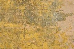 Gelb vergipste Wände mit Schale Stockfoto