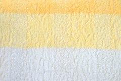 Gelb-weißer Terry Towel Stockfoto