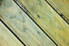 Gelbe alte Hintergrundbeschaffenheit der hölzernen Bretter Stockbild