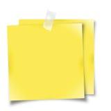 Gelbe Anzeigenanmerkungen Lizenzfreie Stockfotos