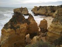 Gelbe Architektur des natürlichen Strandes lizenzfreie stockbilder