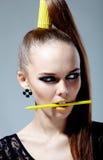 Gelbe Art und Weise Stockfoto