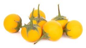 Gelbe Aubergine auf weißem Hintergrund lizenzfreie stockfotografie