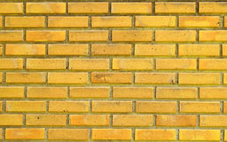 Gelbe Backsteinmauer für Beschaffenheitshintergrund Stockfoto