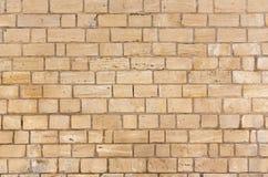 Gelbe Backsteinmauerbeschaffenheit lizenzfreie stockfotografie