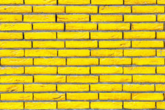 Gelbe Backsteinmauerbeschaffenheit Lizenzfreies Stockfoto