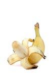 Gelbe Banane getrennt auf dem Weiß Lizenzfreies Stockfoto