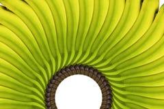 Gelbe Bananen-Anordnung stockfoto