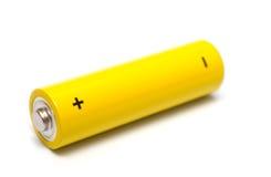 Gelbe Batterie lizenzfreies stockfoto