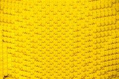 Gelbe Bauplastikblöcke Stockfoto