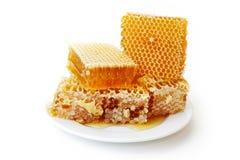 Gelbe Bienenwabe Stockfoto