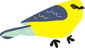 Gelbe blaue Vogel-Tier-Karikatur lizenzfreie stockbilder