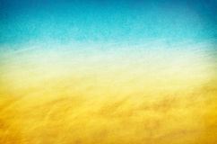 Gelbe blaues Wasser-Beschaffenheiten Lizenzfreie Stockfotos