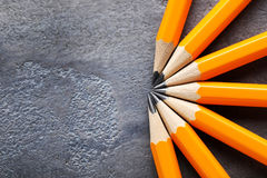 Gelbe Bleistifte Stockfotografie