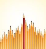 Gelbe Bleistifte und ein Rot Lizenzfreie Stockfotos
