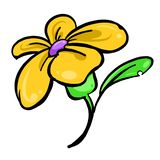 Gelbe Blume, Illustration stockfotos