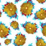 Gelbe Blumen, Basisrecheneinheit, Inneres mit Tropfen Stockfotos