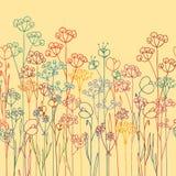 Gelbe Blumen, Basisrecheneinheit, Inneres mit Tropfen Lizenzfreies Stockbild