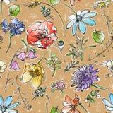 Gelbe Blumen, Basisrecheneinheit, Inneres mit Tropfen Stockfoto