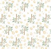 Gelbe Blumen, Basisrecheneinheit, Inneres mit Tropfen Bäume und Rollen Lizenzfreie Stockbilder