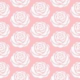 Gelbe Blumen, Basisrecheneinheit, Inneres mit Tropfen Rosa nahtloses Vektormuster Lizenzfreie Stockfotos
