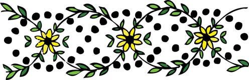 Gelbe Blumen - Blumenauslegung Stockfotografie