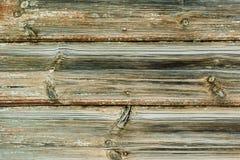 Gelbe Brettwand einer alten Scheune Strukturiert und gelbem PA abziehend Lizenzfreies Stockbild