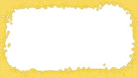 Gelbe Buntglasrahmenillustration lizenzfreie stockfotos