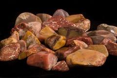 Gelbe Cat Agates Polished Tumbled Rock Stockbild