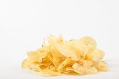 Gelbe Chips Stockbild