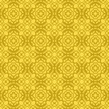 Gelbe dekorative nahtlose Linie Muster Lizenzfreies Stockbild