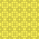 Gelbe dekorative nahtlose Linie Muster Stockfotografie