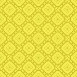 Gelbe dekorative nahtlose Linie Muster Stockfotos