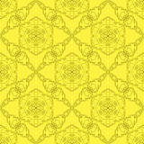 Gelbe dekorative nahtlose Linie Muster Lizenzfreie Stockbilder