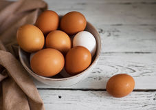 Gelbe Eier Stockfotografie