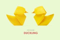 Gelbe Entlein des Origamis Lizenzfreie Stockbilder