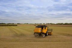 Gelbe Erntemaschine Stockbilder