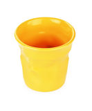 Gelbe Espressoschale Stockfoto