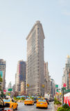 Gelbe Fahrerhäuser an der 5. Allee in New York City Lizenzfreies Stockbild