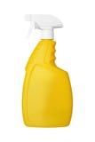 Gelbe Flasche mit einem Sprüher Lizenzfreies Stockbild