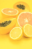 Gelbe Früchte lizenzfreie stockfotografie