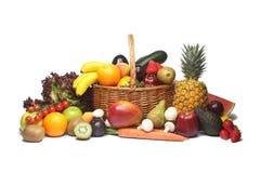 Gelbe Früchte und veg Stockbild
