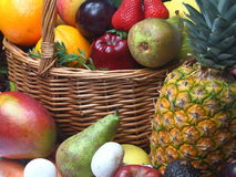 Gelbe Früchte und veg Lizenzfreie Stockfotografie