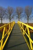 Gelbe gehende Brücke lizenzfreies stockfoto