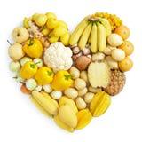 Gelbe gesunde Nahrung Lizenzfreie Stockfotos
