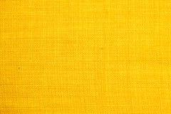 Gelbe Gewebebeschaffenheit Hintergrundbeschaffenheitsfarbe Lizenzfreie Stockfotografie