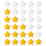 Gelbe glänzende Bewertungssterne Lizenzfreies Stockfoto